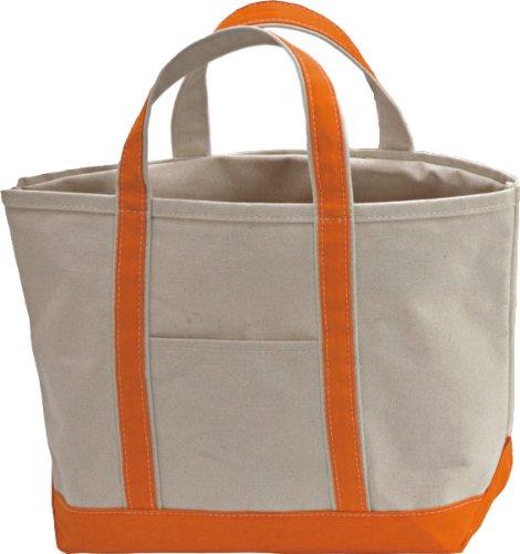 CB Station Canvas Boat Tote Bag with Zipper Medium 12'H x 18'W Orange