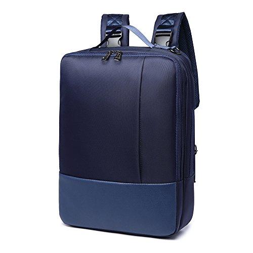 XIUJUAN Mochila para Portátil 15.6 Pulgadas, Impermeable Mochila para Hombre Mujer Negocio Trabajo Universitarias Viaje, 3 en 1 Bolsa Bandolera Maletin Backpack para Laptop/iPad/Ordenador, Azul