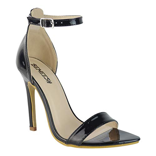 BeMeesh Plataforma Mujer de Punta Stiletto Tacón Alto Sandalias Zapatos