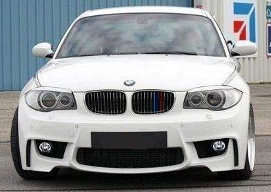 BizTech® - Inserti per griglie compatibili con BMW Serie 1 E87 2003-2011, 12 griglie M Power M Sport Tech con clip per griglia a strisce decorative in 3 colori.