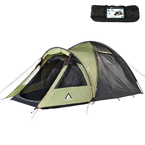 10T Outdoor Equipment Glenhill Kuppelzelt Tente dôme Beechnut pour 4 Personnes-Full XXL-Étanche-5000 mm Mixte, Vert Gris GB4, 4 Personnen