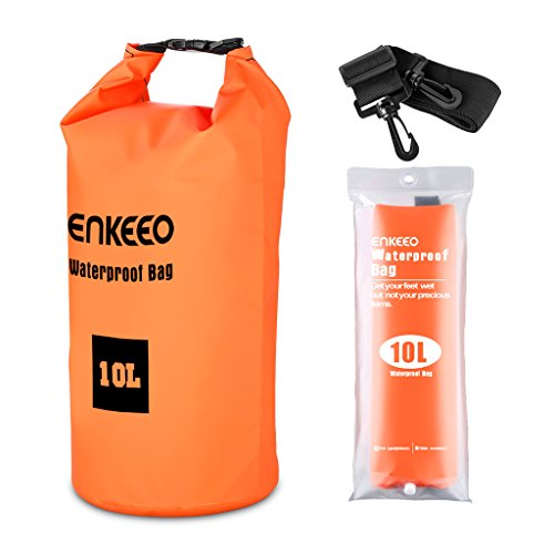 SUAOKI Enkeeo - Bolsa Seca Impermeable Mochila Estanca (10L, Material 500D...