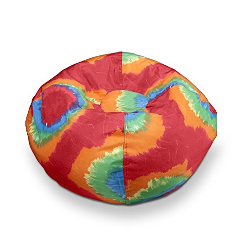 Michael Anthony Furniture Red/Orange Tye Dye Bean Bag Chair