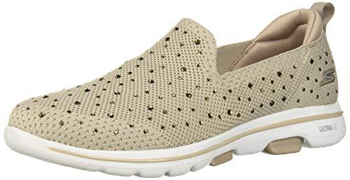 Skechers Damen Go Walk 5-Limelight Slip On Sneaker, Beige (Taupe Textile/Trim TPE), 39 EU