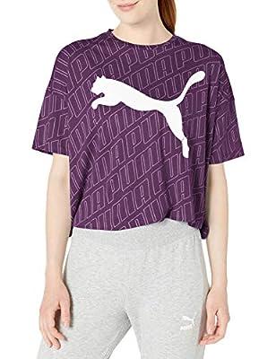 PUMA Women's Modern Sport Fashion Tee, Plum Purple, M