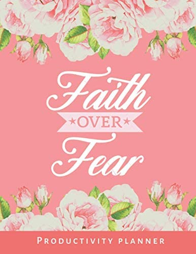 Faith Over Fear Christian Productivity Planner Bible Quote Undated Weekly Organizer 52 Week product image
