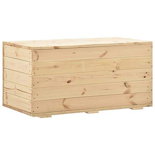 vidaXL Cassapanca in legno di pino massiccio, 100 x 54 x 50,7 cm