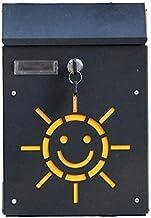 Postdoos, Opbergpot Post Box Wandmontage Wandmontage Beveiliging Mailbox Zwart Thuis Verticaal Met Slot En Key Commentaar Box