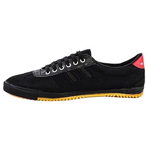 wu designs Shuang Xing Sneaker - Kampfkunst Sport Parkour Wushu Schuhe Schwarz 35