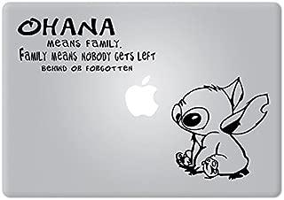 Stitch Quote Ohana Family Experiment 626 Lilo & Stitch Apple Macbook Decal Vinyl Sticker Apple Mac Air Pro Retina Laptop sticker
