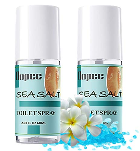 OOPEE Bathroom Spray – 2 pcs Toilet Spray for Poop Bottle – Sea Salt Scented Odor Eliminator for Strong Odor – 2.3 oz Potty Room Fresheners – Up to 800 Uses