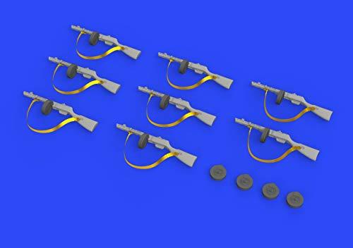 Eduard EDB635011 1:35-PPsh-41 kit de modelo de pistola de submáquina, latón, varios , color/modelo surtido