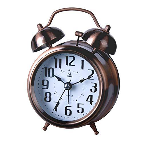 Lancardo Alarm Clock, Vintage Analoge Wake Up Lightwekker, nachtlampje, zonder tikken, voor volwassenen en kinderen