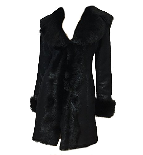 DX Leather Products -  Cappotto - Donna Black XX-Large