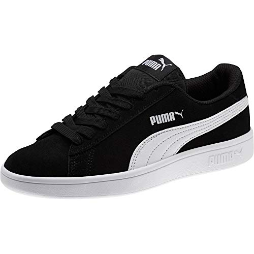 PUMA Unisex Kinder Smash v2 SD Jr Zapatillas, Black White, 35.5 EU