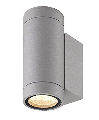BRANDSSELLER LED buitenwandlamp dubbele spot UpDown massieve wandlamp buitenlamp wandspot aluminium - 6W - 400 lumen - warme toon - IP54