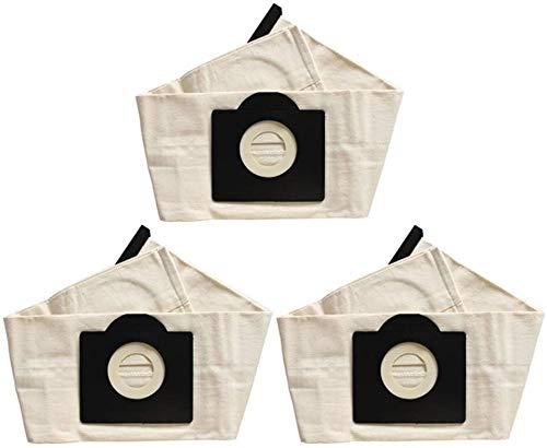 Karcher WD3 - Bolsas de polvo lavables para aspiradora (3 unidades)