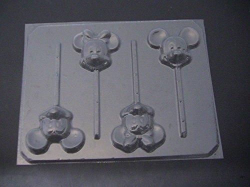 Mouse Face Head Boy Mickey Girl Minnie Chocolate Candy Mold