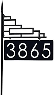 Extra Large Contemporary Reflective 911 Yard Address Sign - 6