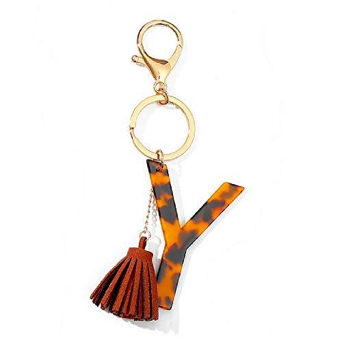Schlüsselanhänger-Armband, klassisch, Leopardenmuster, A-Z, Pioneer Ace Tate Anhänger, Armreif, großer Schlüsselanhänger, Handschlaufe