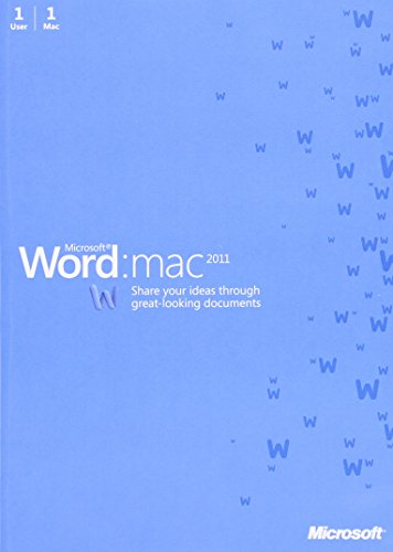 Word for Mac, 2011, 1 User [import anglais]