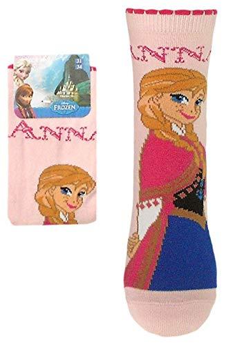 Die Eiskönigin Frozen Mädchen Socken - ELSA oder ANNA Motiv (31/34, ANNA hellrosa 2)