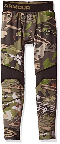Under Armour Boys' ColdGear Armour Scent Control Leggings,Ridge Reaper Camo Fo /Black, Youth X-Large