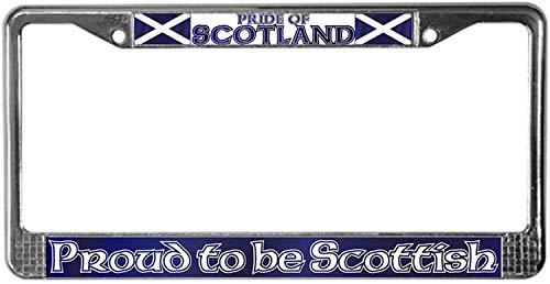 Fhdang Decor Scottish Pride License Plate Frame Chrome License Plate Frame, License Tag Holder Auto Tag Car Accessories 6' X 12'