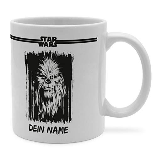 PhotoFancy Tasse Star Wars mit Namen personalisiert (Chewbacca Paint)