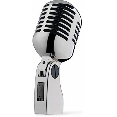 Stagg - Micrófono vocal dinámico (uso con soporte, estilo años 50)