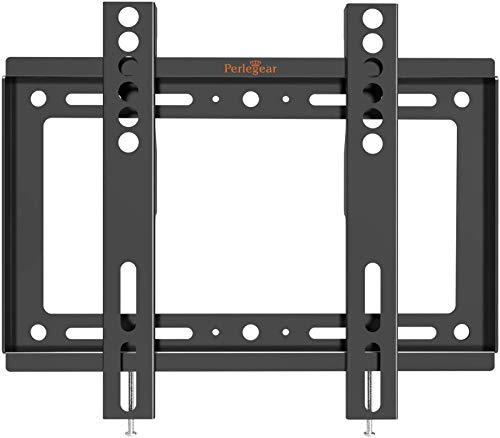 Perlegear Low Profile Fixed TV Wall Mount Bracket, Ultra Slim and Space Saving for Most 17-42 Inch LED, LCD OLED and Plasma Flat Curved Screen TVs, up to VESA 200 x 200mm and 66 lbs