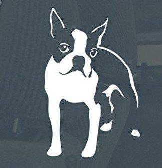 Keen Boston Terrier Standing Vinyl Decal Sticker Car/Truck Laptop/Netbook Window |5.5 X 3.5 in Decal