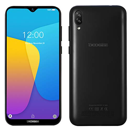 Smartphone Offerta del Giorno DOOGEE X90, Waterdrop 6.1 '' a Tutto Schermo, Android 8.1 DUAL SIM 3G Cellulare in Offerta, Quad-core 16 GB ROM, 5MP+8MP Fotocamera, GPS, Sblocco Facciale 3400mAh Nero