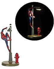 Paladone Spiderman Lamp, Spidey Tafellamp Licentie Marvel Comics Merchandise, Rood, Blauw, Grijs, PP6369MC