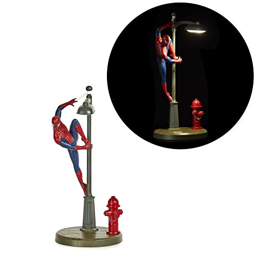 Paladone Spiderman Lamp, Spidey Table Lamp Licensed Marvel Comics Merchandise, Red, Blue, Gray, PP6369MC