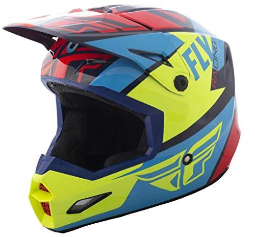 Casco Fly Elite Guild 2019 rosso/blu/giallo fluo XL