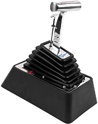 BRAND NEW B&M AUTOMATIC STAR SHIFTER,UNIVERSAL 3 & 4 SPEED,POLISHED ALUMINUM & BLACK PLASTIC BASE,COMPATIBLE WITH CHRYSLER A727,A904,A518 TRANSMISSIONS,FORD C4,C5,C6 & AOD TRANSMISSIONS