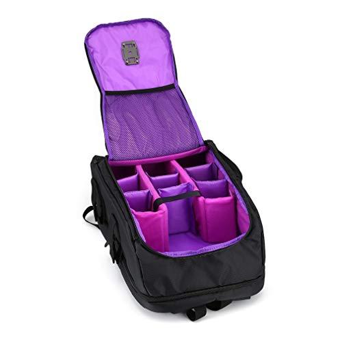 OUYBO FPV Racing Drone Zaino Carry Bag Outdoor Portable Aircraft Case Borsa a tracolla per Multirotor RC Aereo Fisso Wing Accessori telecomando accessori batteria (Colore: Viola)