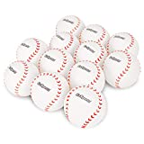 GoSports Rubber Baseball 12 Pack for Kids - Soft & Safe Inflatable Design with Pump - Great for Throwing, Catching and Batting Practice for Beginners