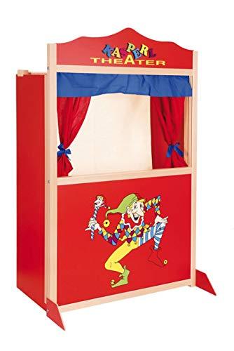 Unbekannt Kasperletheater aus Holz / In Deutschland hergestellt / Größe: ca. 73 x 40 x 120 cm / für Kinder ab 3 Jahren