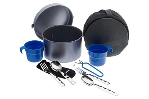 Laken 8412544036773 Fiambrera Camping batería de Cocina de Aluminio Antiadherente, LP2NSC, 53 oz Non-Stick with 2 Sets of Cutlery and Cup, 53oz, Unisex