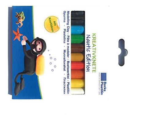 Becks Plastilin-150 g / schwimmende Teig, 10 Stäbe,, Ideen zum Kneten, Leporello, B110500, Mehrfarbig