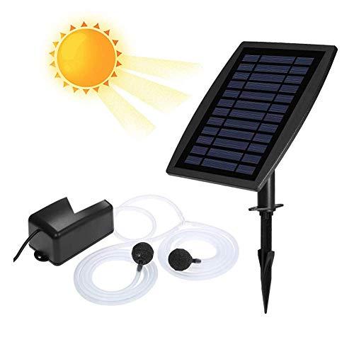 Zonne-zuurstof-lucht fontein pomp, zonne-energie drenken dompelpomp kit met Aquarium zuurstofpijp en luchtbel steen voor tuin vissen tank zwembad visvijver