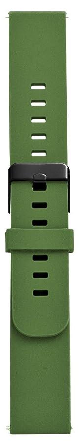 視聴者爵職人EMPIRE 腕時計 ベルト イージークリック バンド グリーン ストレート 20mm ブラック尾錠