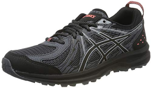 Asics Frequent Trail, Zapatillas de Running Mujer, Negro (Black/Piedmont Grey 004), 37.5 EU