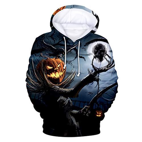 Herren und Damen Herbst T Shirts Sweatshirt Lange Ärmel V Ausschnitt Sport Tees 3D Halloween Bedruckt Bluse Polyester Baumwolle Unterhemden