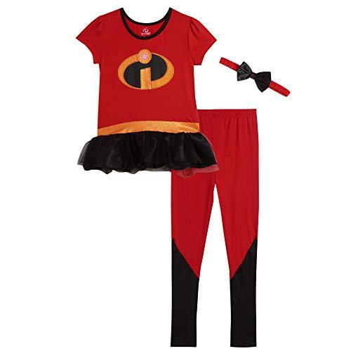 Disney Pixar The Incredibles Toddler Girls Short Sleeve Costume T-Shirt and Leggings Set 2T
