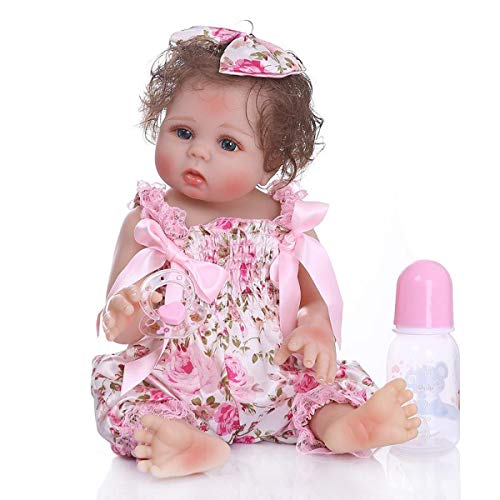Terabithia 18 Pollici 47 Centimetri Morbido Delicato Tocco Vinile Vinile Pieno Corpo Bambine Reborn Bambole Preemie Lavabile Neonato Bambola anatomicamente Corretta in Pantaloni Floreali Rosa