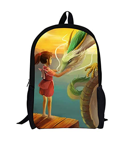 WANHONGYUE Spirited Away Anime Impression d'image Backpack Cartable Sac d'école Étudiant Sac à Dos de Loisirs /2