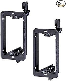 iMBAPrice LV1-2PK  Single Gang (1-Gang) Low Voltage Mounting Bracket - Black (Pack of 2)